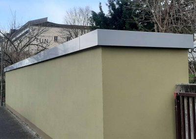 Mauerabdeckung aus Aluminium