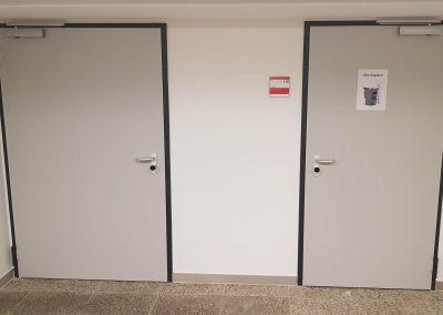 Stahl-Brandschutztüren einflüglig